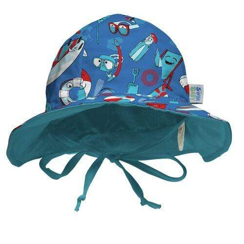 My Swim Baby Reversible Sun Hat - Beach Life
