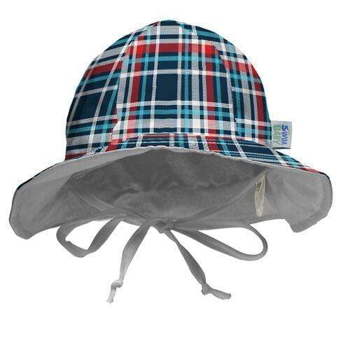 My Swim Baby Reversible Sun Hat - Coastal Plaid