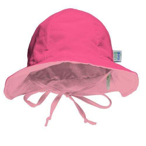 My Swim Baby Reversible Sun Hat - Hot Pink/Light Pink S
