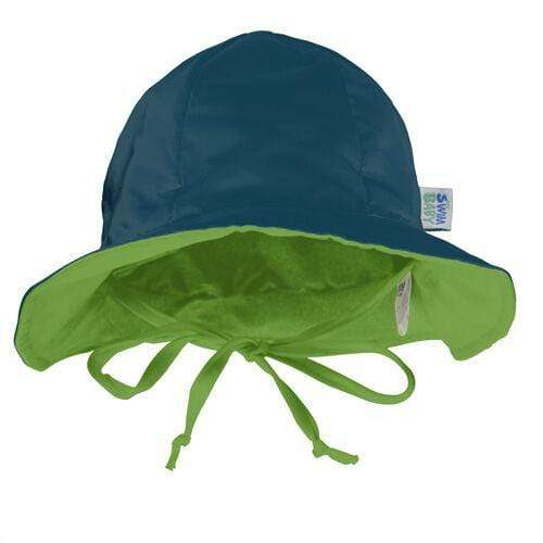 My Swim Baby Reversible Sun Hat - Lime/Navy M