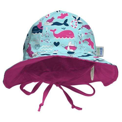 My Swim Baby Reversible Sun Hat - Little Mermaids