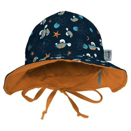 My Swim Baby Reversible Sun Hat - Navy Sea Friends