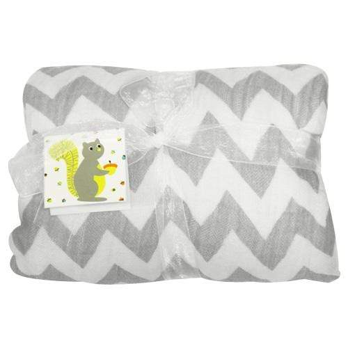 Nicki's Diapers Bamboo Security Blanket - Gray Chevron