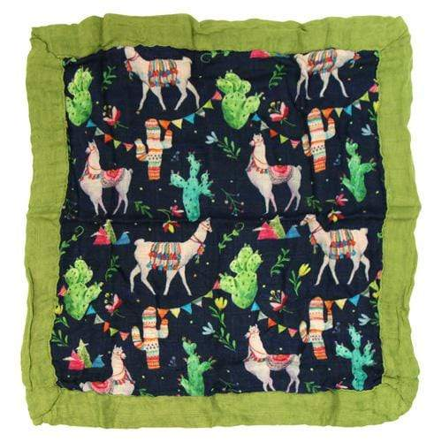 Nicki's Diapers Bamboo Security Blanket - Llama Party