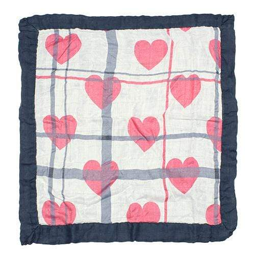 Nicki's Diapers Bamboo Security Blanket - Love Lines