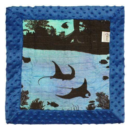 Nicki's Diapers Bamboo Security Blanket - Underwater World