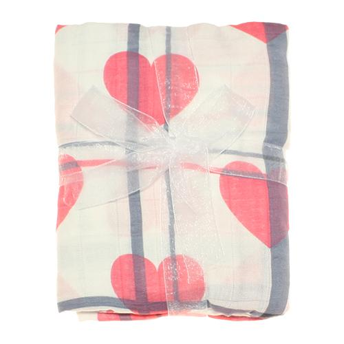 Nicki's Diapers Bamboo Swaddle Blankets - Love Lines