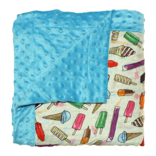 Nicki's Diapers Cuddle Blanket - Brain Freeze - Razz