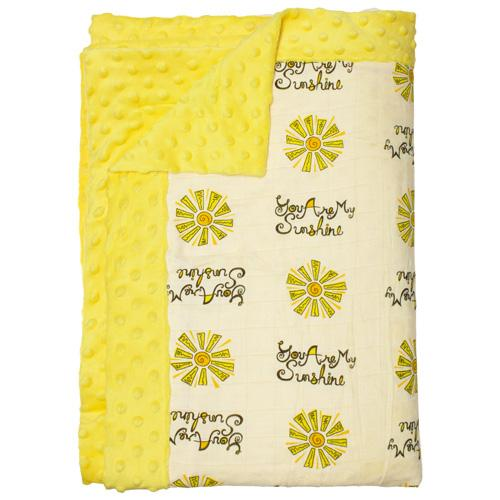Nicki's Diapers Cuddle Throw - You Are My Sunshine