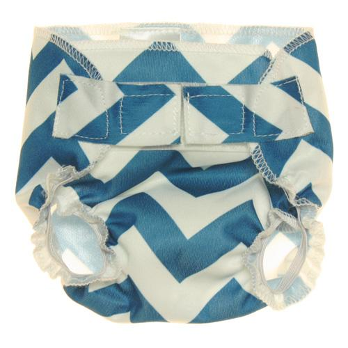 Nicki's Diapers Doll Diapers - Blue Razz Chevron