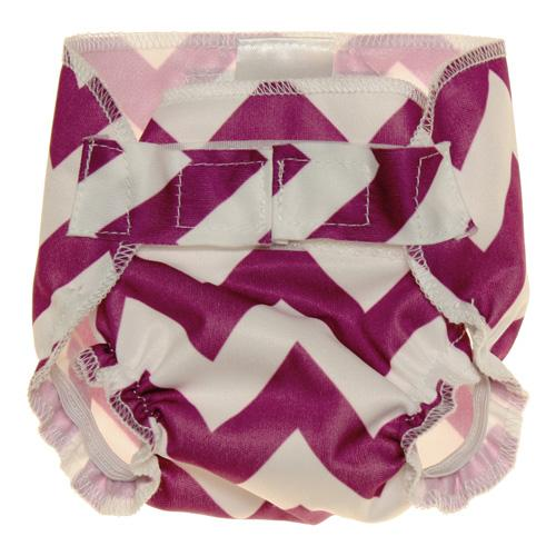 Nicki's Diapers Doll Diapers - Grape Chevron