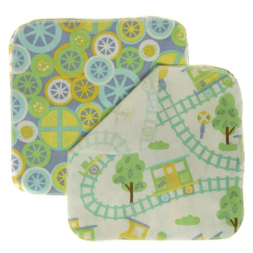 Nicki's Diapers Flannel Wipes - Choo Choo