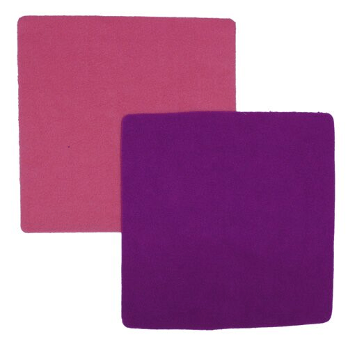 Nicki's Diapers Fleece Wipes - Dark Purple/Hot Pink