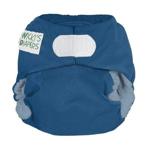 Nicki's Diapers Newborn Hook and Loop Bamboo All in One - Blue Razz Newborn