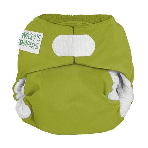 Nicki's Diapers Newborn Hook and Loop Bamboo All in One - Caramel Apple
