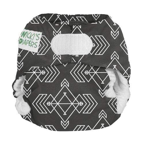 Nicki's Diapers Newborn Hook and Loop Bamboo All in One - Compass Stone Newborn