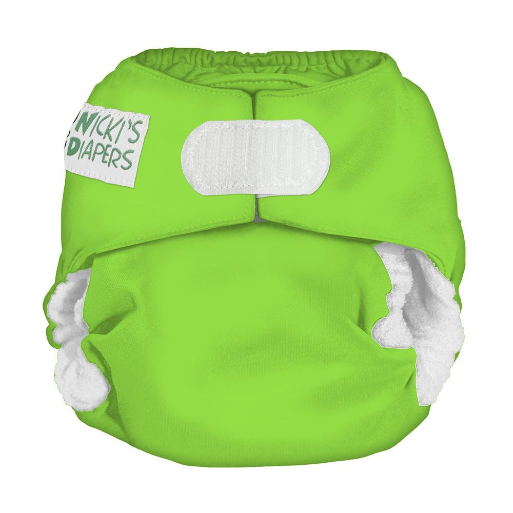 Nicki's Diapers Newborn Hook and Loop Bamboo All in One - Get Slimed Newborn