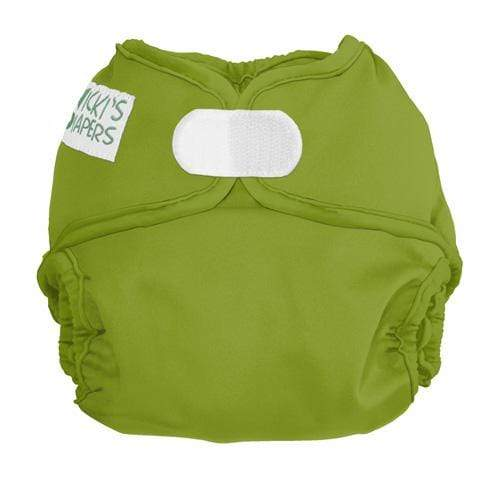 Nicki's Diapers Newborn Hook and Loop Diaper Cover - Caramel Apple Newborn