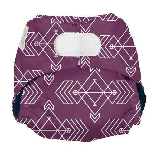 Nicki's Diapers Newborn Hook and Loop Ultimate All in One - Compass Mulberry Newborn