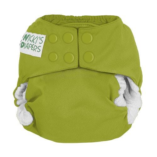 Nicki's Diapers Newborn Snap Bamboo All in One - Caramel Apple Newborn