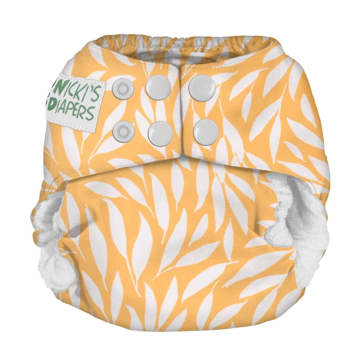 Nicki's Diapers Newborn Snap Bamboo All in One - Dijon