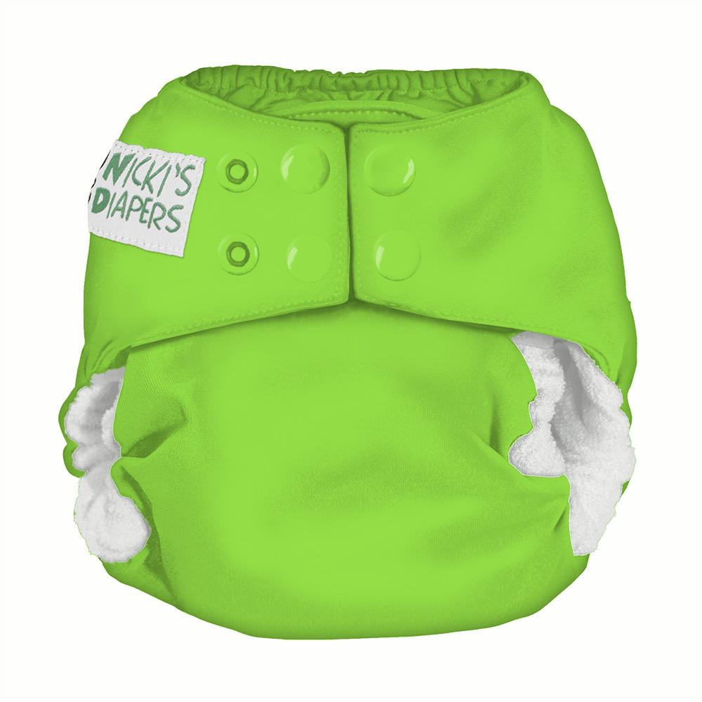 Nicki's Diapers Newborn Snap Bamboo All in One - Get Slimed Newborn