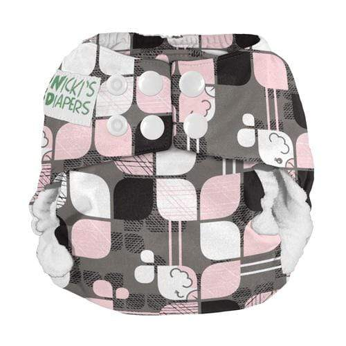 Nicki's Diapers Newborn Snap Bamboo All in One - Hip Chick Newborn