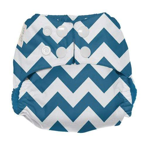 Nicki's Diapers Newborn Snap Ultimate All in One - Blue Razz Chevron Newborn