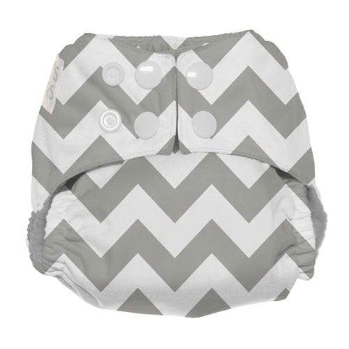Nicki's Diapers Newborn Snap Ultimate All in One - Gray Chevron Newborn