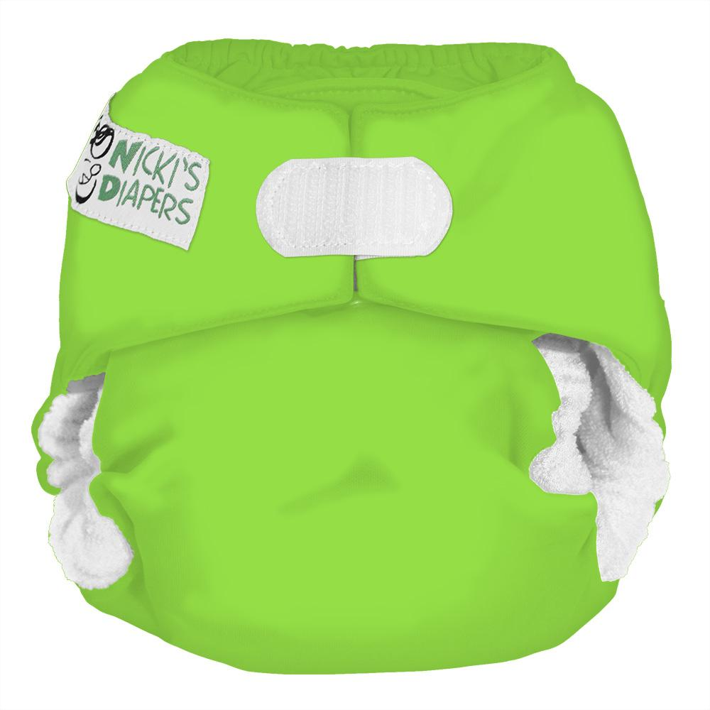 Nicki's Diapers One Size Hook and Loop Bamboo All in One - Get Slimed