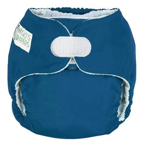 Nicki's Diapers One Size Hook and Loop Pocket - Blue Razz