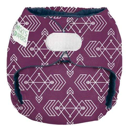 Nicki's Diapers One Size Hook and Loop Pocket - Compass Mulberry