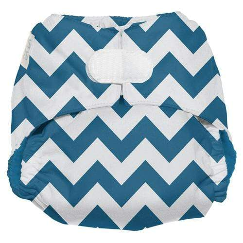 Nicki's Diapers One Size Hook and Loop Ultimate All in One - Blue Razz Chevron