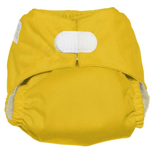 Nicki's Diapers One Size Hook and Loop Ultimate All in One - Lemon Drop