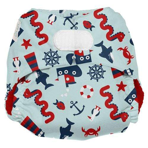 Nicki's Diapers One Size Hook and Loop Ultimate All in One - Nautical Nessie