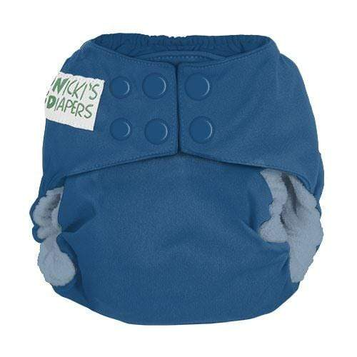 Nicki's Diapers One Size Snap Bamboo All in One - Blue Razz