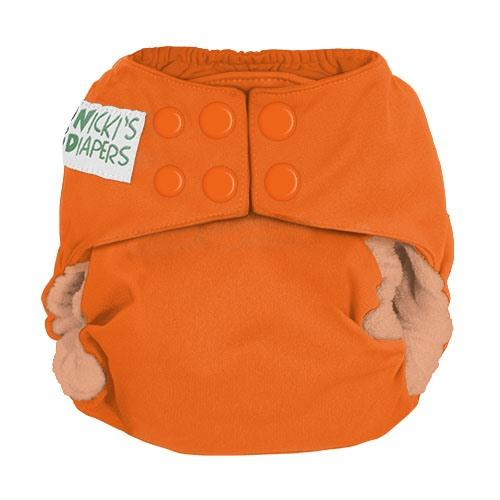 Nicki's Diapers One Size Snap Bamboo All in One - Dreamsicle