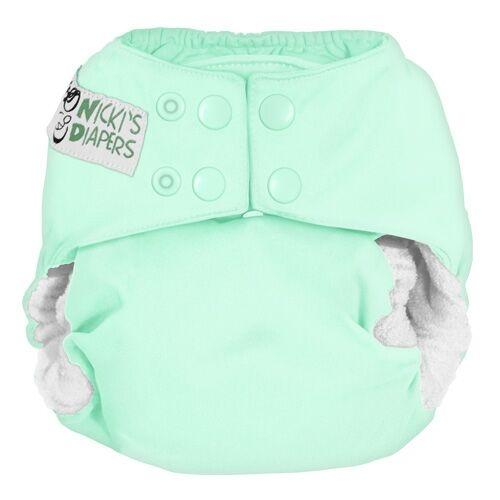Nicki's Diapers One Size Snap Bamboo All in One - Key lime