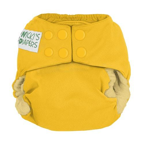 Nicki's Diapers One Size Snap Bamboo All in One - Lemon Drop