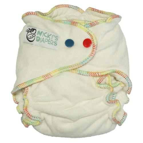 Nicki's Diapers One Size Snap Bamboo Overnight Fitted Diaper
