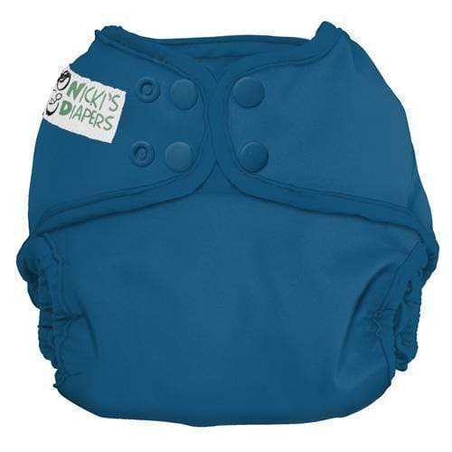 Nicki's Diapers One Size Snap Diaper Cover - Blue Razz