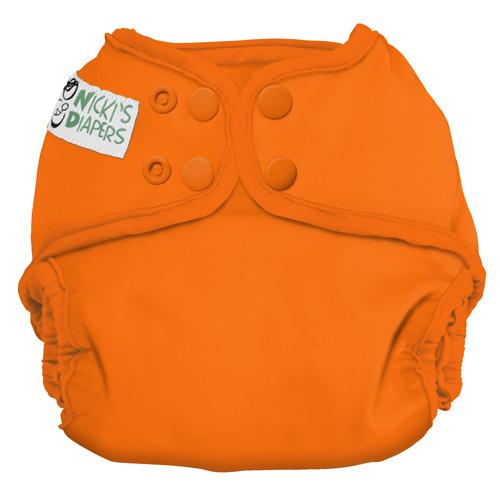 Nicki's Diapers One Size Snap Diaper Cover - Dreamsicle