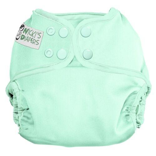 Nicki's Diapers One Size Snap Diaper Cover - Key lime