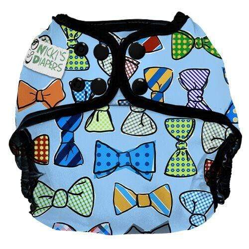 Nicki's Diapers One Size Snap Diaper Cover - Tie Guy Remix