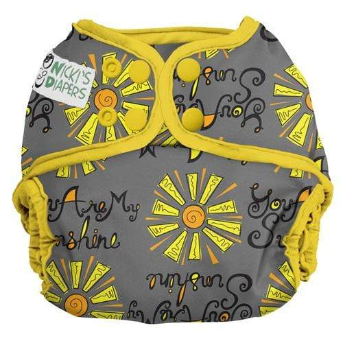 Nicki's Diapers One Size Snap Diaper Cover - You Are My Sunshine