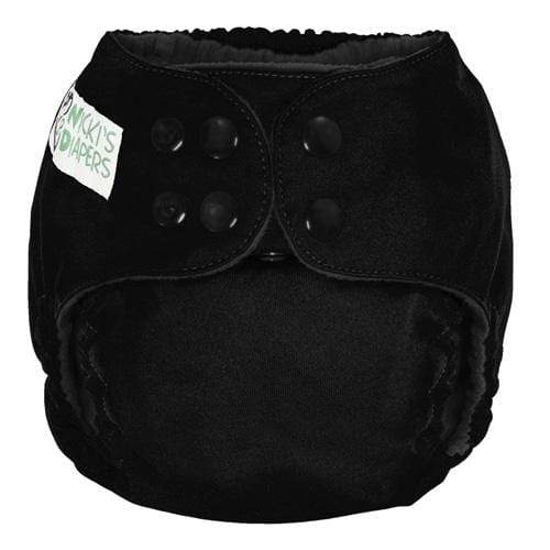 Nicki's Diapers One Size Snap Pocket - Black Licorice