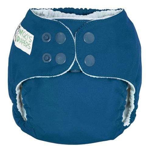 Nicki's Diapers One Size Snap Pocket - Blue Razz