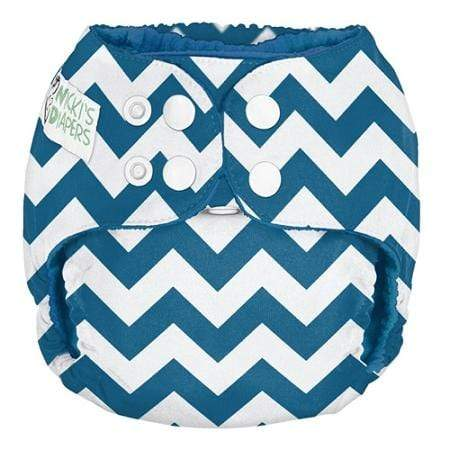 Nicki's Diapers One Size Snap Pocket - Blue Razz Chevron