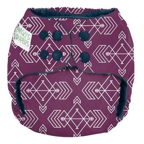 Nicki's Diapers One Size Snap Pocket - Compass Mulberry