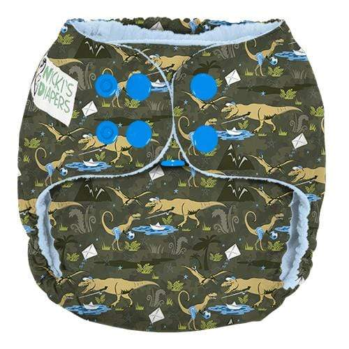 Nicki's Diapers One Size Snap Pocket - Dinoduke
